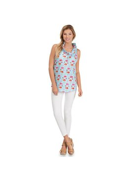 Mud Pie Mud Pie Whitney Sleeveless Tank Flamingos
