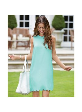 Mud Pie Mud Pie Britain Scallop Dress