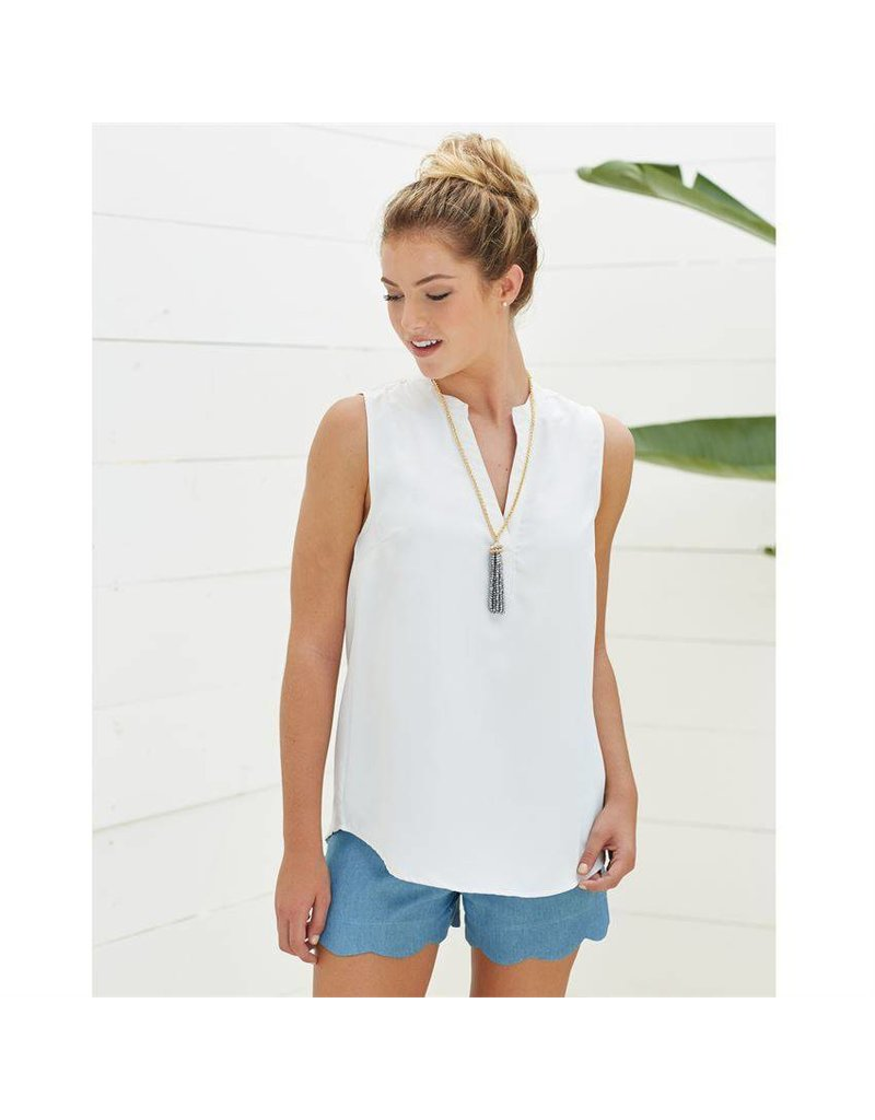Mud Pie Rue Essential Sleeveless Tank Tunic