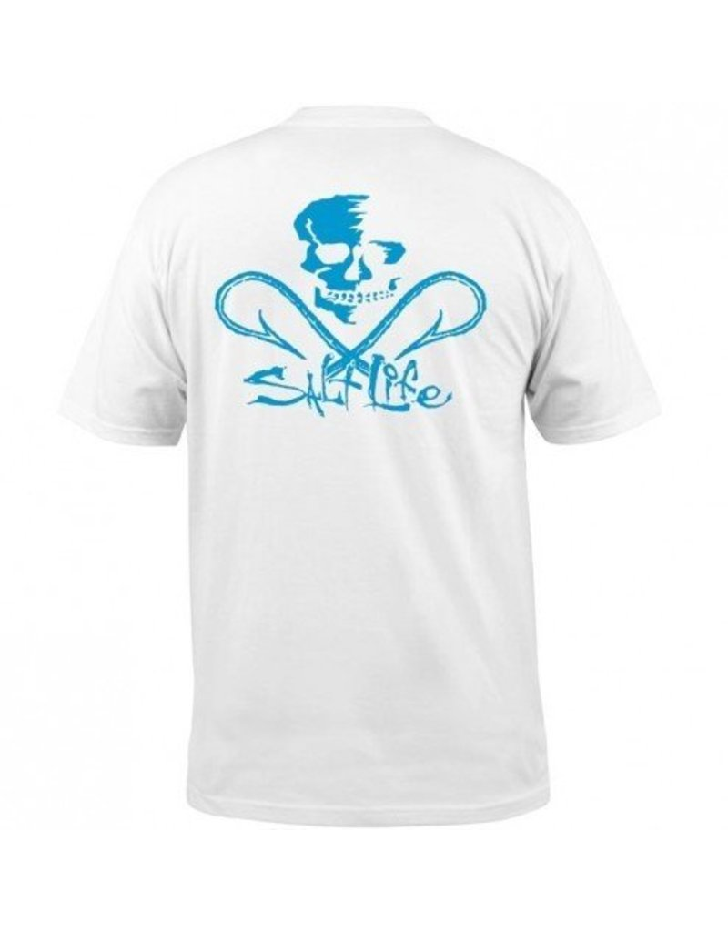 Salt Life Salt Life Neon Skull and Hooks Pocket Tee