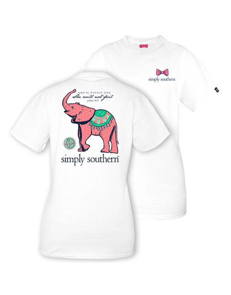 Simply Southern Collection Simply Southern Prep Baby Elephant T-Shirt