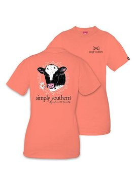 Simply Southern Collection Youth Simply Southern Cow T-Shirt