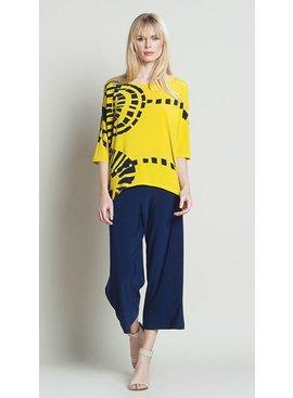 Clara Sun Woo Clara Sun Woo Track Print Soft Knit Top