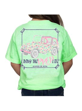 Southern Girl Prep Youth Mint Jeep SS T-shirt