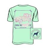 Southern Girl Prep YOUTH Southern Girl Prep Mint Jeep  T-shirt