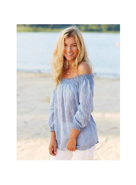 Mud Pie Mud Pie Foster Off The Shoulder Top