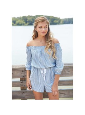Mud Pie Mud Pie Oliver Off The Shoulder Romper