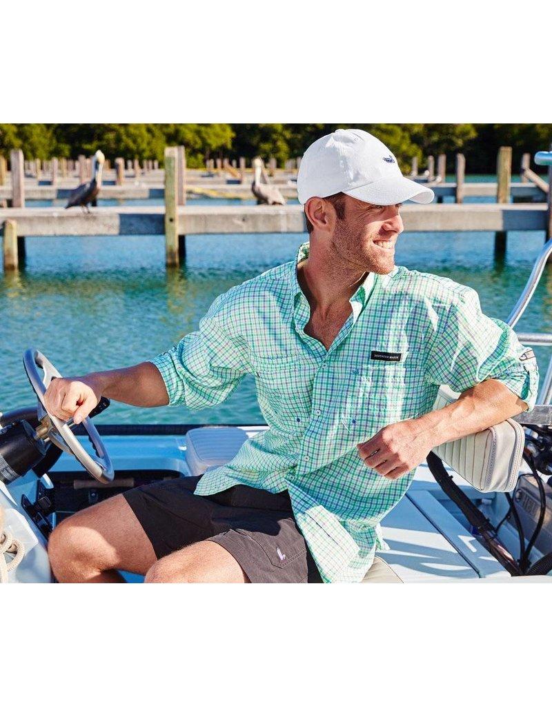 Southern Marsh Harbor Cay Fishing Shirt - Abaco Grid