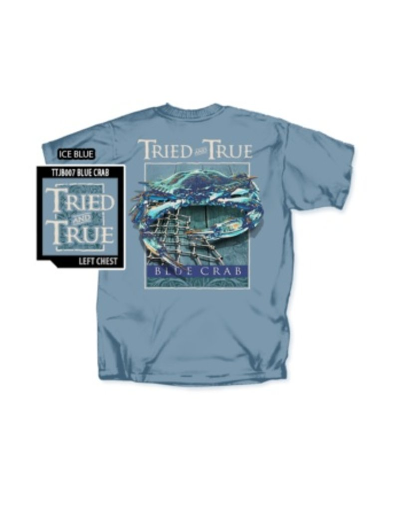 Southern Strut Tried And True Blue Crab Short Sleeve T-shirt