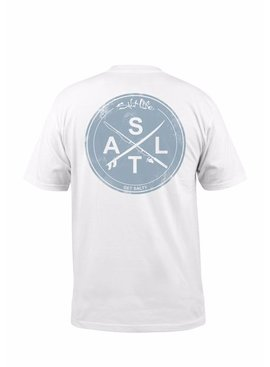 Salt Life Salt Life Stacked Logo Graphic Pocket Tee