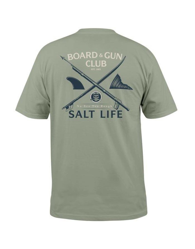 Salt Life Board and Guns Pocket Tee