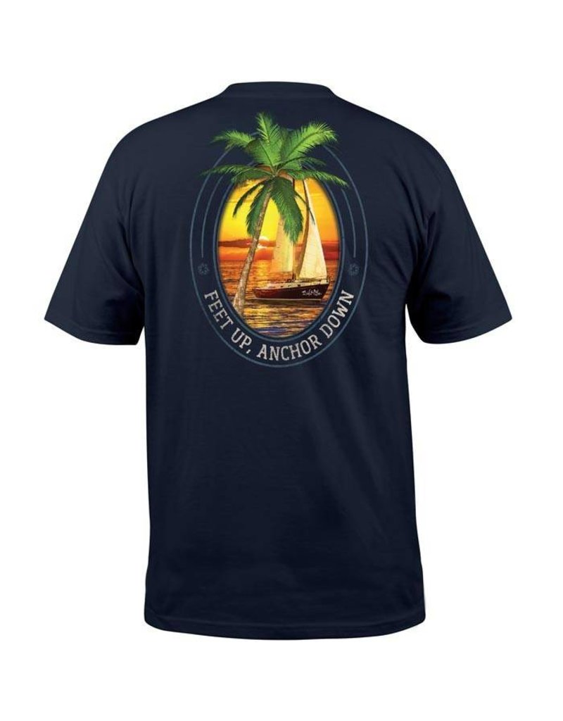 Salt Life Feet Up Anchor Down Pocket Tee