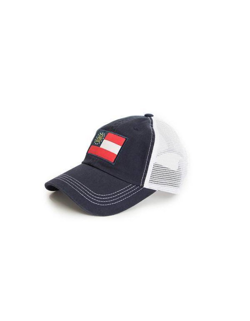 State Traditons State Traditions -Georgia Flag Trucker Hat