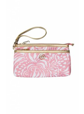 Lauren James Lauren James Gold Logo Wristlet