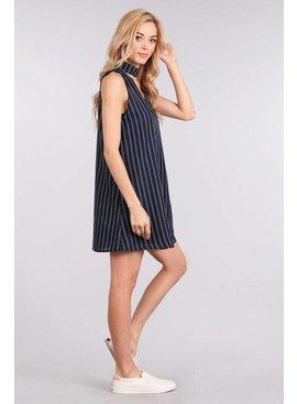 Blue Pepper Woven Sleeveless Dress