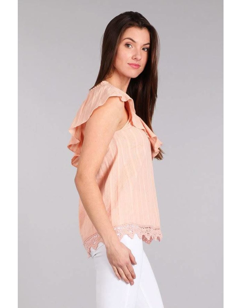 Blue Pepper One Shoulder Lace Top