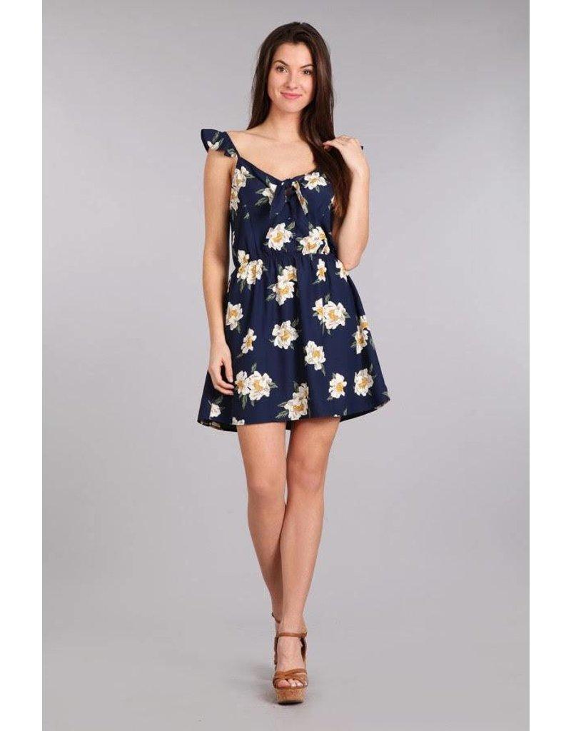 Blue Pepper Woven Dress