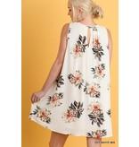 Umgee Sleeveless Floral Print Dress