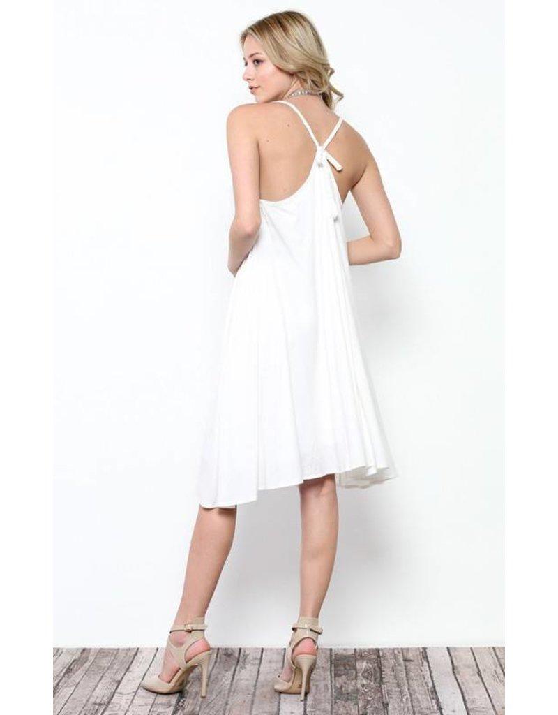 Ces Femme Ces Femme Adjustable Strap Flare Dress