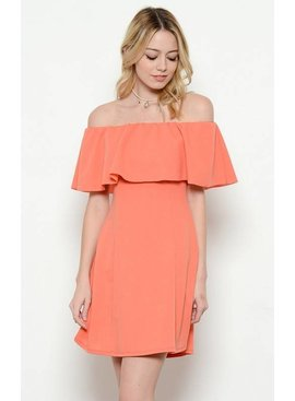 Ces Femme Ces Femme Off Shoulder Solid Dress