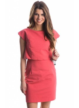 Lauren James Lauren James The Sullivan Solid Seersucker Dress