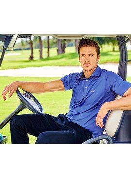 Southern Marsh Southern Marsh Bermuda Performance Polo - Johnson Stripe