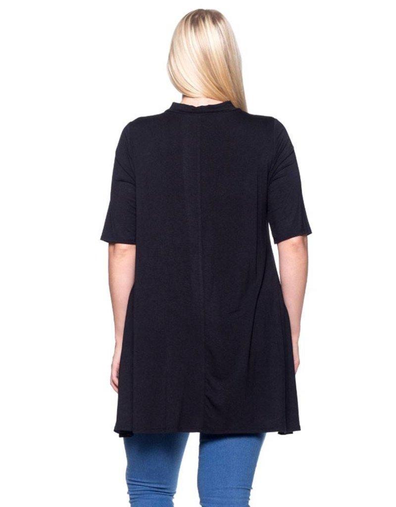 Janette Plus Knit Blouse