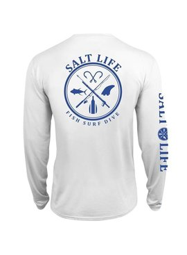 Salt Life Salt Fix SLX UVapor Long Sleeve Pocket Tee