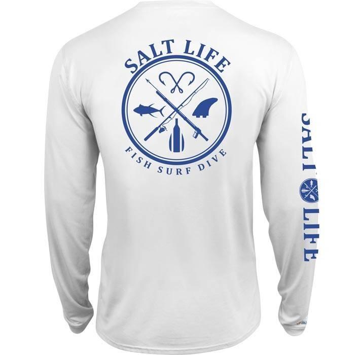 Salt Life Salt Fix SLX UVapor Long Sleeve Pocket Tee
