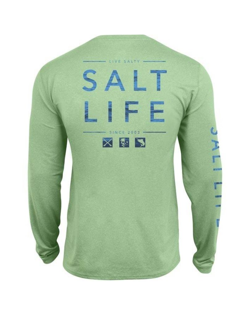 Salt Life Salt Life Water Icons SLX UVapor Long Sleeve Pocket Tee