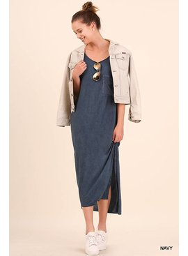 Umgee UMGEE Side Slit Maxi Dress