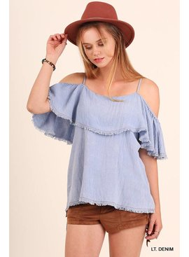 Umgee UMGEE Cold Shoulder Top