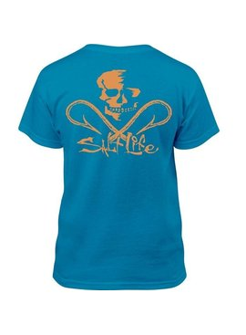 Salt Life Salt Life Skull and Hooks Youth Tee