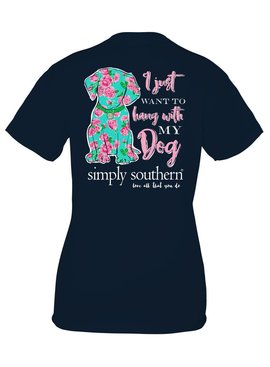 Simply Southern Collection Youth Simply Southern Hang With My Dog T-Shirt