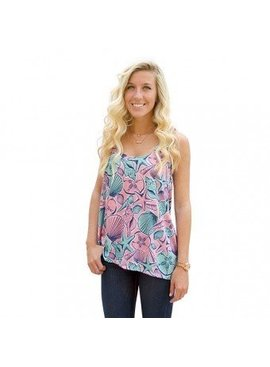Simply Southern Collection Simply Southern Shell Racerback Tank