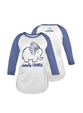 Simply Faithful SIMPLY FAITHFUL ELEPHANT RAGLAN T-SHIRT