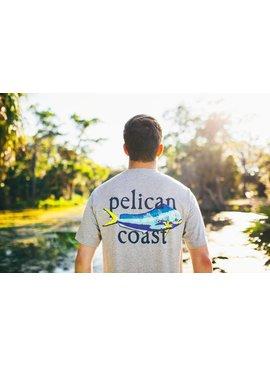 Pelican Coast Clothing Company Mahi Mahi Pelican Coast Logo T-Shirt