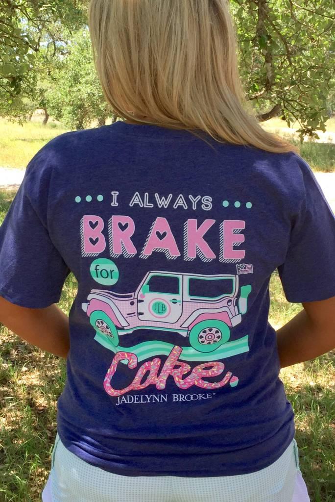 Jadelynn Brooke Jadelynn Brooke Brake For Cake  - V-Neck - Navy