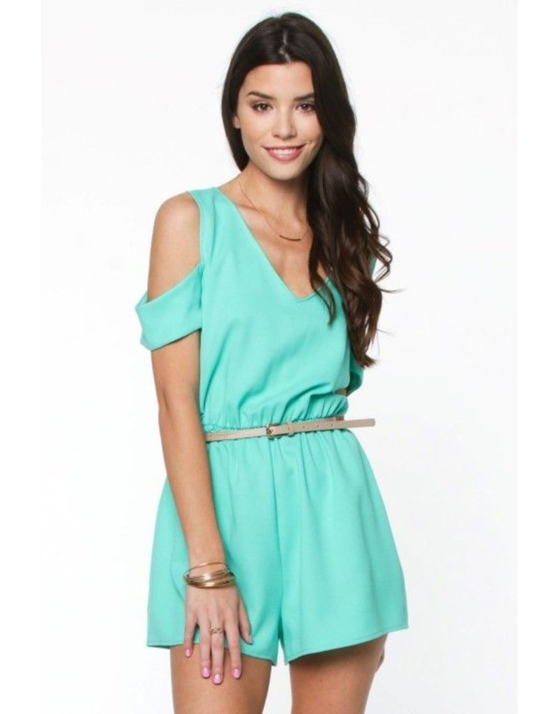 Everly Everly Cold Shoulder Romper