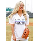 Jadelynn Brooke Baseball is Love (White) - Short Sleeve