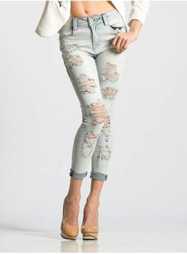 Rubberband Stretch Rubberband Piper Destructed Cropped Skinny – Fluff