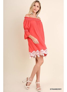 Umgee UMGEE Off the Shoulder Bell Sleeve Dress