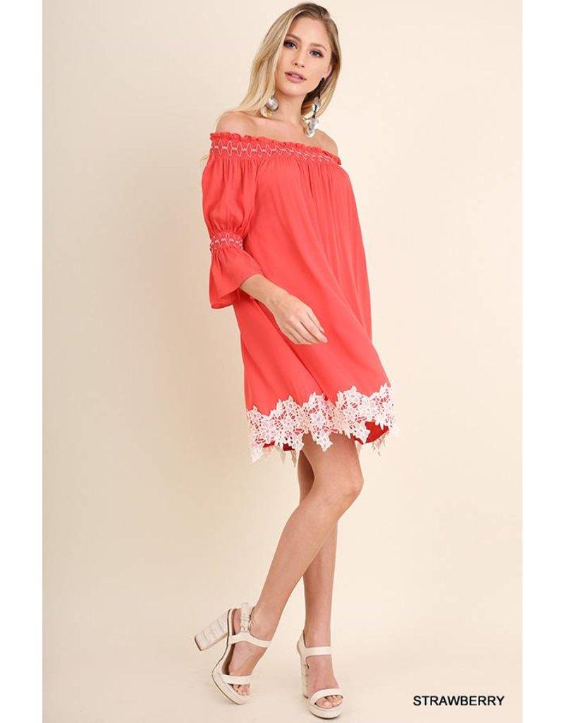 Umgee UMGEE Off the Shoulder Bell Sleeve Dress