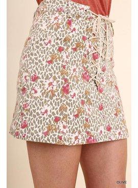 Umgee UMGEE Print Skirt