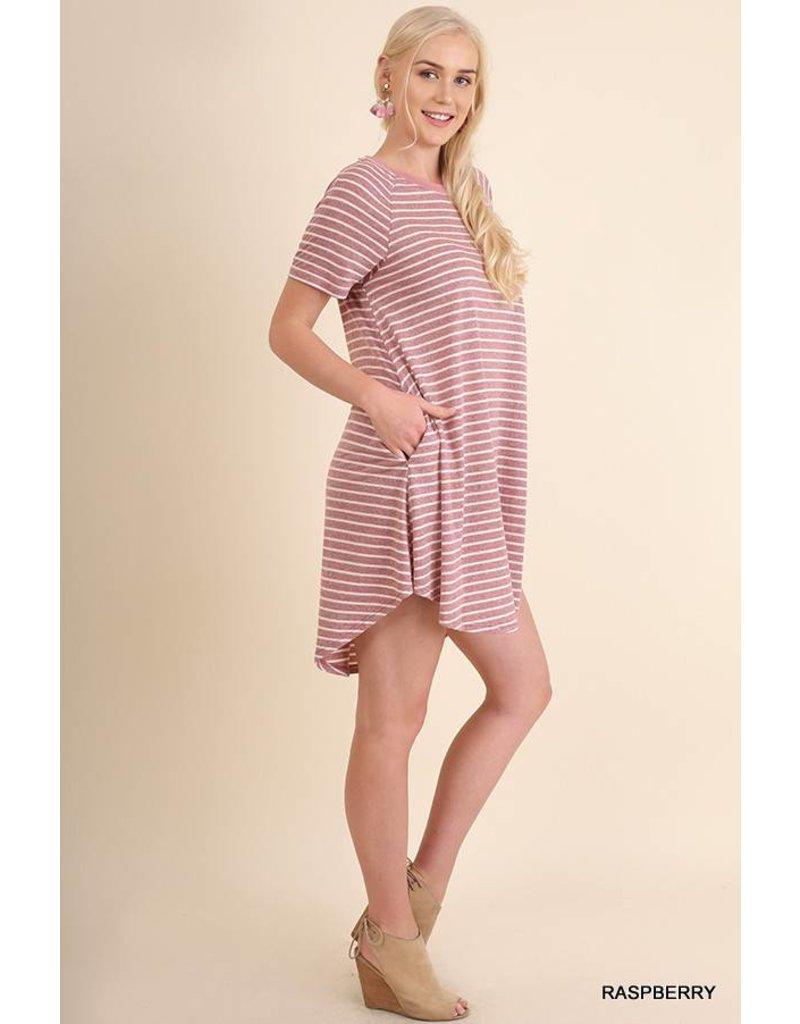 Umgee UMGEE Striped A Line Dress