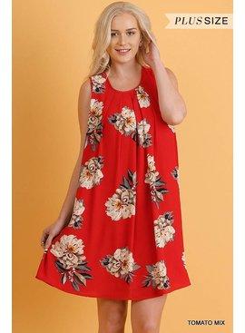 Umgee UMGEE Sleeveless Floral Print Dress