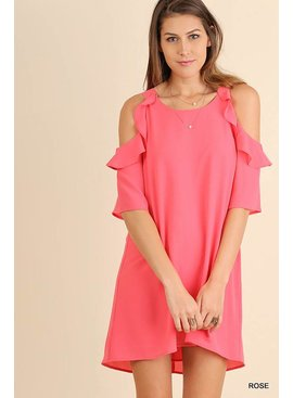 Umgee UMGEE Cold Shoulder Dress
