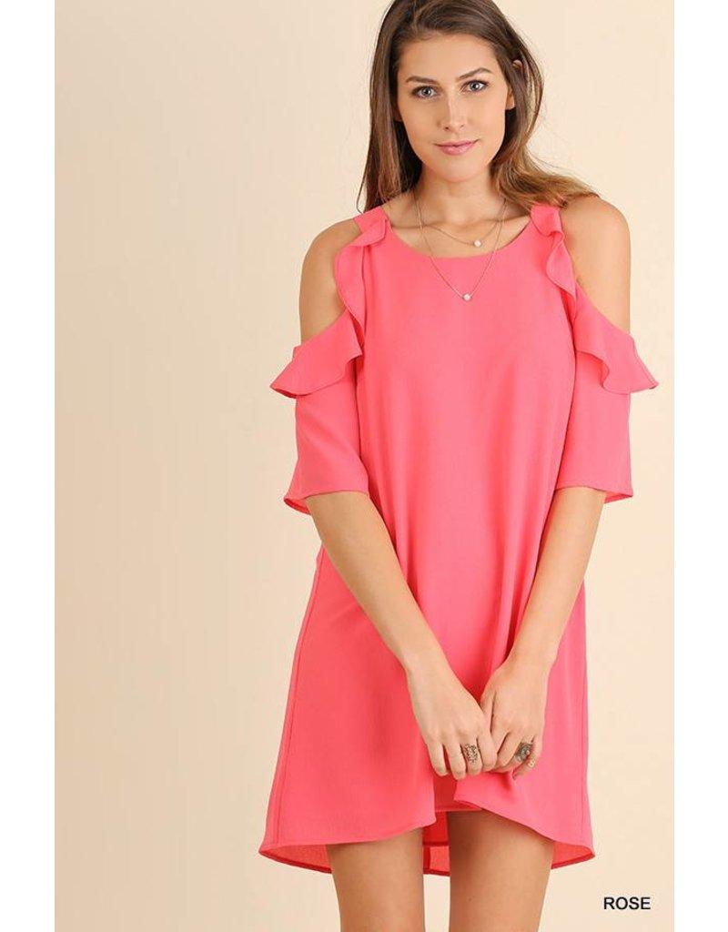Umgee UMGEE Cold Shoulder Dress