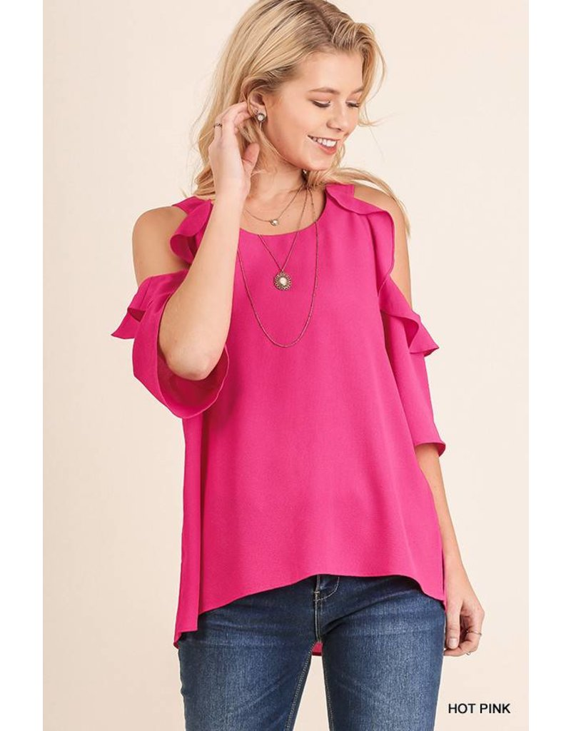 Umgee UMGEE Cold Shoulder Blouse