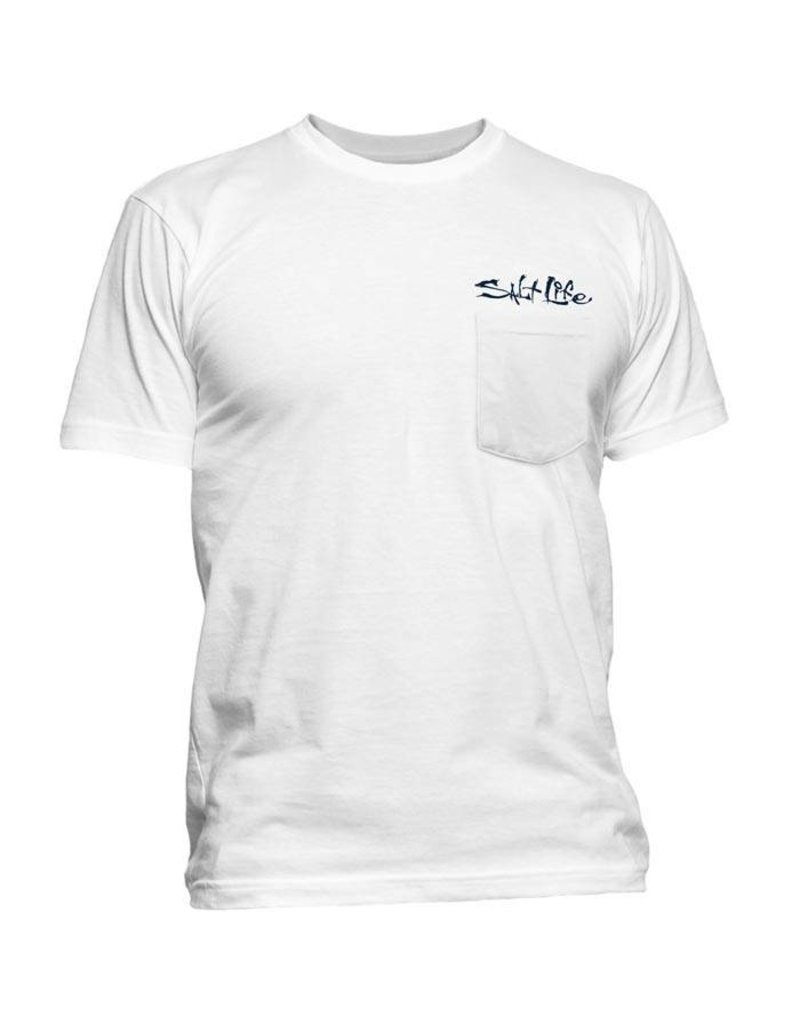 Salt Life Salt Life Stars and Stripers Pocket Tee